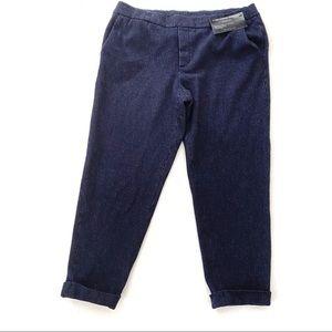 Massimo Dutti  Wool Cotton Pull On Pant 10 Blue
